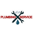 plumbing services business symbol vector image vector image