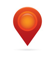 red map pointer icon marker GPS location flag vector image vector image