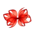 Red Scarlet Transparent Bow Top View Isolated vector image