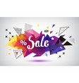 sale faceted 3d banner poster colorful vector image vector image