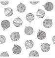 seamless christmas pattern christmas tree balls vector image vector image