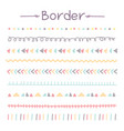 set of colorful doodle borders vector image vector image