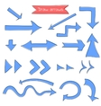 Set of draw arrows on white vector image vector image