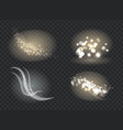 set of icons with bokeh on vector image vector image