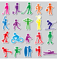 sport silhouettes color simple stickers set eps10 vector image vector image