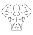 Strong athletic man icon outline style vector image vector image