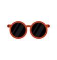 stylish rounded eyeglasses black object design vector image