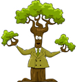 tree in a suit vector image vector image