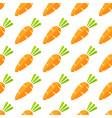 trendy orange carrot vegetable seamless pattern vector image vector image