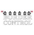 USA border control vector image vector image