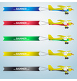 various colors small airplane with banner eps10 vector image vector image