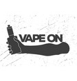 vintage emblem with an electronic cigarette in vector image vector image