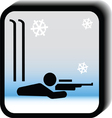 Winter icon -rifle vector image