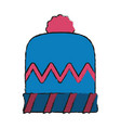 winter woman hat vector image