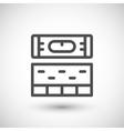 Building level line icon vector image