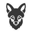 Fox Head Ligi Icon on White Background vector image