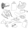 Set of fashion accessories womens accessories vector image