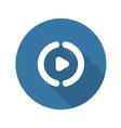 Play Button Flat Design vector image