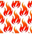 Red fire flames seamless pattern vector image