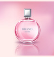 3d realistic perfume bottle for women vector image vector image