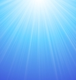 Abstract Blue Sky Background Sun vector image vector image