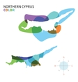 Abstract color map of Northern Cyprus vector image vector image