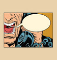 angry man talking on phone comic cloud vector image vector image