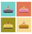assembly flat icons gay in bed vector image vector image