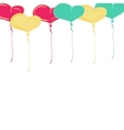 background balloon Valentine day doodle vector image vector image