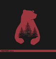 bear country logo vector image