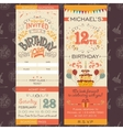 Birthday party invitation ticket vector image vector image
