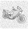 black and white of a motorcycle vector image vector image