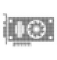 black pixel video gpu card icon vector image