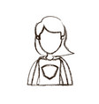 blurred thick silhouette caricature faceless half vector image vector image