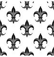Bold stylized fleur de lys pattern vector image vector image