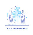 businessmen build a city together cooperation vector image vector image