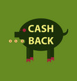 cash back sale banner template design big sale vector image vector image