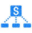 cashout scheme grunge icon vector image vector image