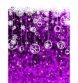 Christmas card cute misaic dot in purple EPS 8 vector image vector image