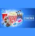 cinema and movie banner vector image vector image