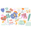 collection positive inspirational doodles vector image