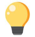 creative idea in light bulb shape vector image