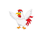 cute rooster cartoon posing vector image