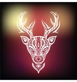 Deer head Ethnic background vector image