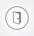 door outline symbol dark on white background logo vector image vector image