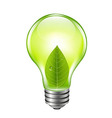 Eco Green Bulb vector image vector image