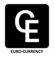 euro-currency symbol vector image vector image