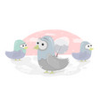funny birds cartoon character doves for vector image vector image