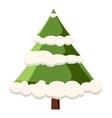 Fur tree in snow icon cartoon style vector image