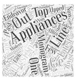 GE Monogram Appliances Word Cloud Concept vector image vector image